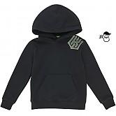 [KT 위즈] 이니셜 앵글 유니 어린이 후드티셔츠 (검정)