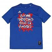 [2250] ADIDAS 5T TYPO G 키즈 티셔츠 (청색)