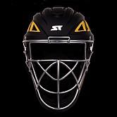 스톰 2020 초경량 알로이 일체형 포수헬멧 (검+노랑)