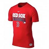 [580705] 나이키 MLB 드라이핏 코튼 그래픽 보스턴레드삭스 티셔츠 (적색)