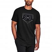 [1317277-001] 언더아머 라운드 반팔 티셔츠 (검정)