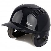[2060] 윌슨 조절형 타자헬멧 (유광 검정) 양귀